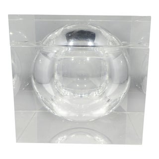 1970s Alessandro Albrizzi Spherical Lucite Ice Bucket For Sale