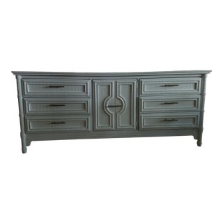 1960s Vintage Faux Bamboo Credenza For Sale