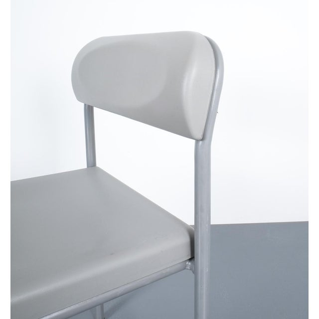 One of Seven Ettore Sottsass Greek Chairs Grey Bieffeplast, Italy, 1980 For Sale - Image 10 of 13