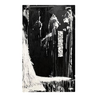 """""""Burial"""" Mixed-Media on Canvas by Jake Blake For Sale"""