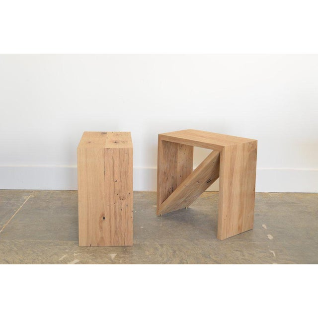 Contemporary Ozshop Isosceles Side Tables Natural Oak For Sale - Image 3 of 7
