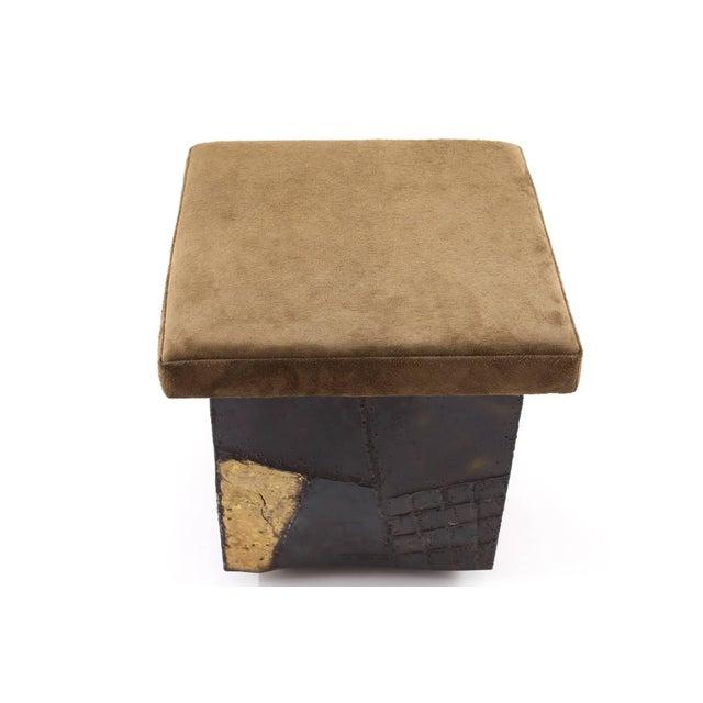 Mid-Century Modern Paul Evans Brutalist Stool For Sale - Image 3 of 6