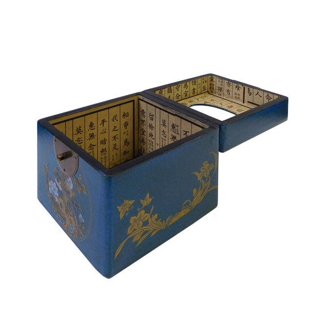 Chinese Blue Container or Tissue Box - Image 3 of 5