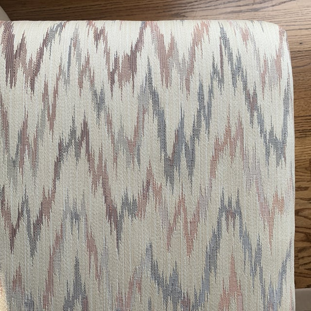 Vintage Weiman Upholstered X Bench For Sale - Image 12 of 13