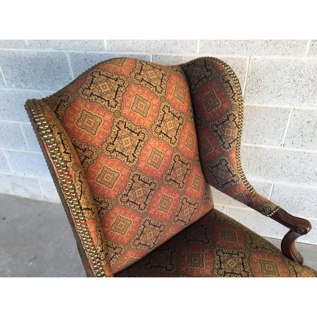 Vanguard Furniture Vanguard Sultana French Provincial Wing Back Arm Chair For Sale - Image 4 of 9