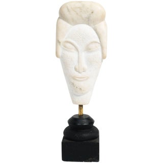 Asian Marble Bust Sculpture For Sale