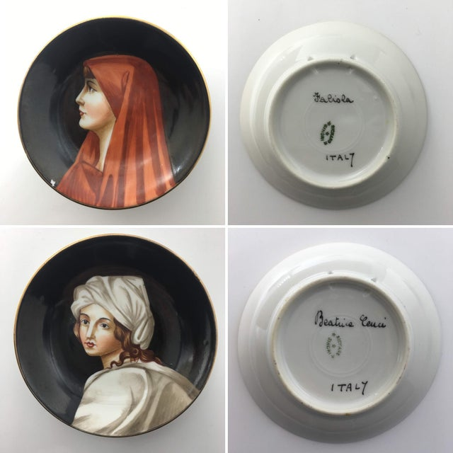 Mid 20th Century Hand-Painted Porcelain Portrait Plates by Richard Ginori - Set of 9 For Sale - Image 5 of 7