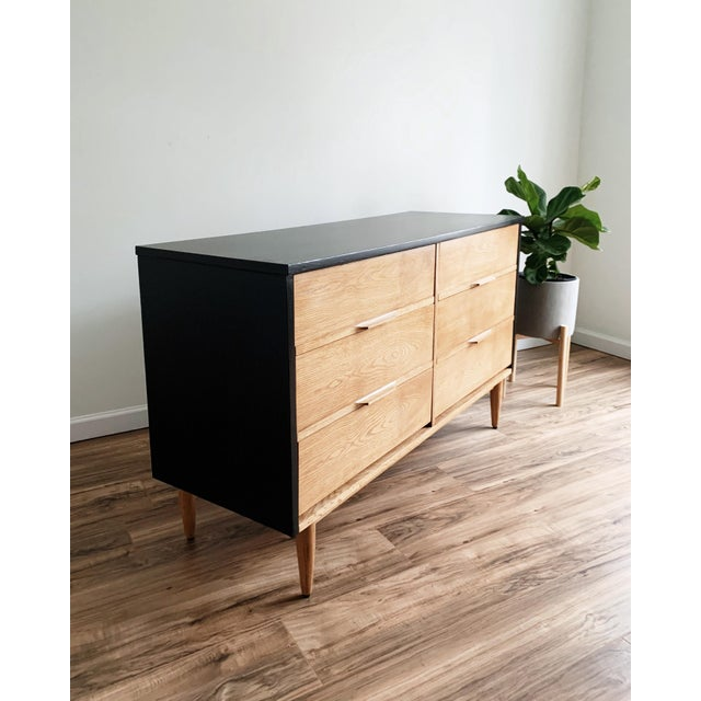 Mid Century Modern Harmony House Black + Natural Wood Dresser For Sale - Image 10 of 11