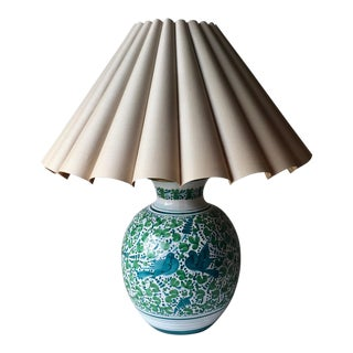 Deruta Italian Faience Hand-Painted Lamp For Sale