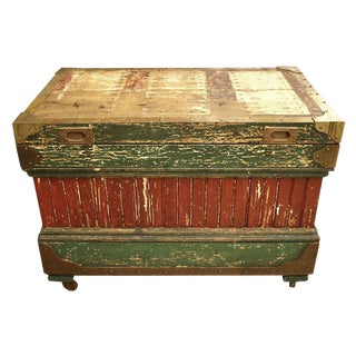 19th Century Rare Crafted Wood Tool Box For Sale