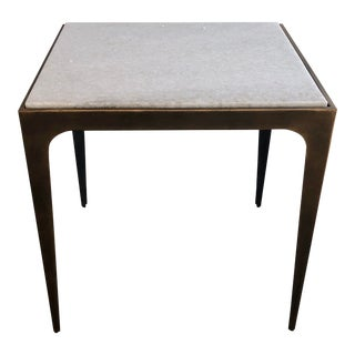 Vanguard Brass & Marble Side Table For Sale