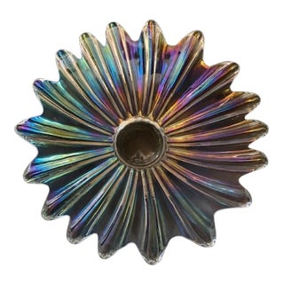 Mid 20th Century Iridescent Fluted Bowl For Sale