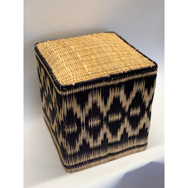 Pleasing African Square Wicker Ottoman Gmtry Best Dining Table And Chair Ideas Images Gmtryco