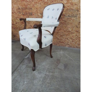 Mahogany Queen Anne Style Open Arm Chairs - A Pair Preview