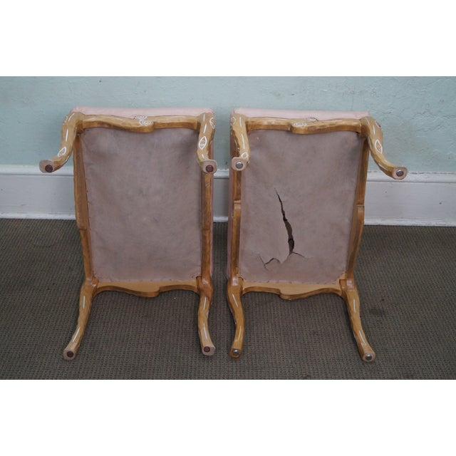 Unusual Faux Branch Leather Ottomans - A Pair - Image 9 of 10