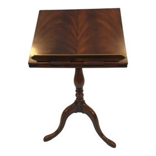 Maitland Smith Queen Anne Style Mahogany Adjustable Lectern For Sale