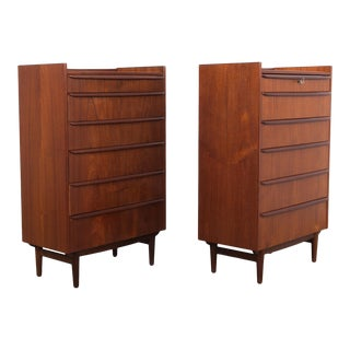 1960s Mid-Century Chest of Drawers - a Pair For Sale
