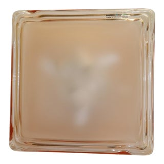 Murano Due Murano Pink Glass Wall-Ceiling Lamp For Sale
