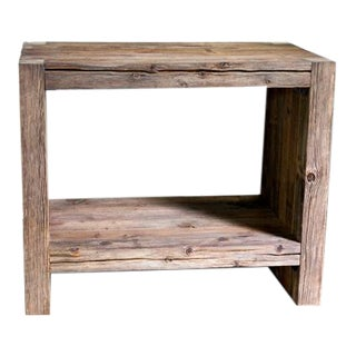 Modern Organic Artisan Made Solid Wood Bathroom Vanity For Sale