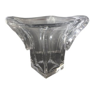 Daum Art Deco Crystal Vase For Sale