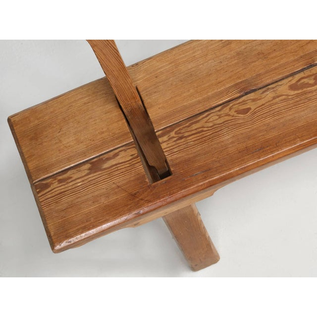 Antique Country Pine Bench With Adjustable Back For Sale - Image 9 of 13