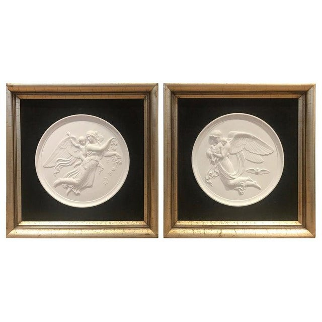 19th Century Royal Copenhagen Framed Porcelain Plaques - a Pair For Sale - Image 9 of 9
