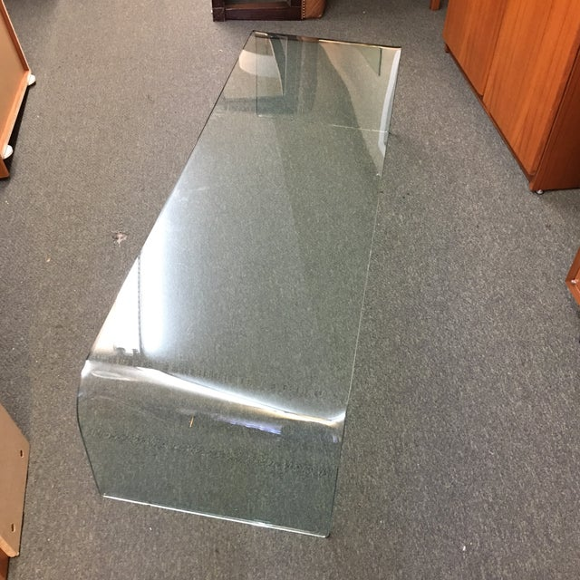 Vintage Waterfall Glass Coffee Table - Image 5 of 7