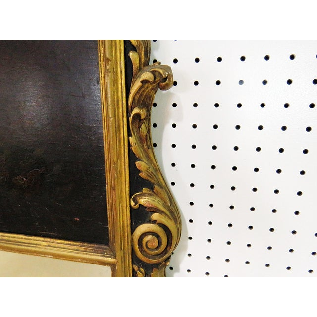 Glass Antique Regency Style Trumeau Mirror For Sale - Image 7 of 13