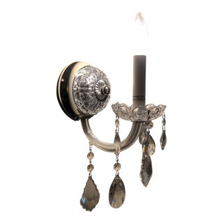 Swarovski Crystal Wall Sconce For Sale
