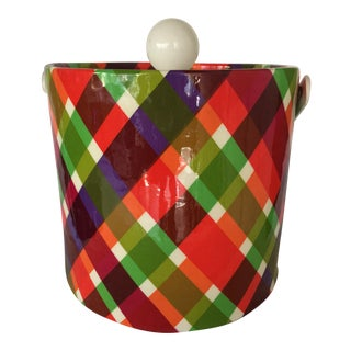 Vintage Plaid Retro Ice Bucket
