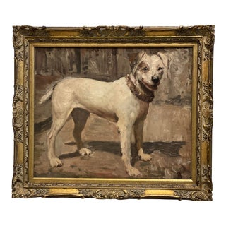 19th Century Dog Painting by John Emms From British Academy For Sale