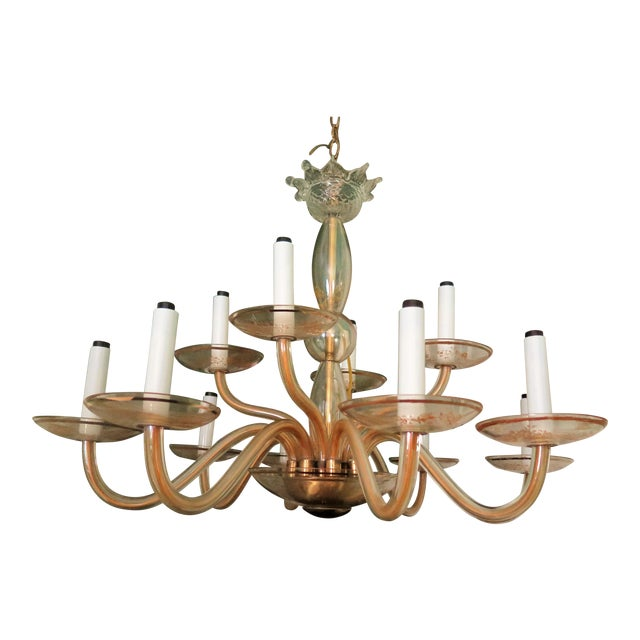 Vintage Murano Gold Chandelier - Image 1 of 5