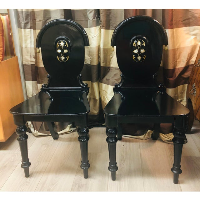 James Shoolbred Furniture London Chairs - a Pair For Sale - Image 11 of 11