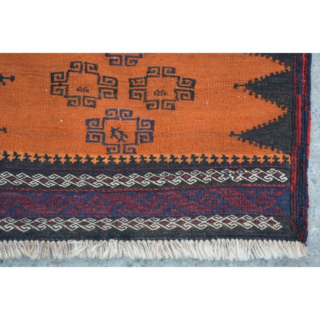 """Vintage Afghan Sumak Kilim Runner - 2' x 5'3"""" - Image 3 of 6"""