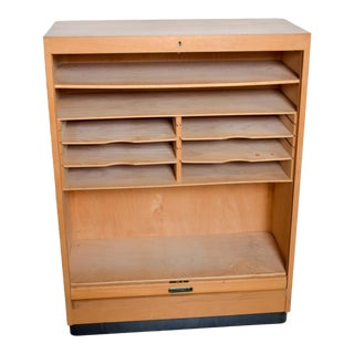 Bauhaus Modern Blonde File Cabinet by Adolf Maier Germany For Sale