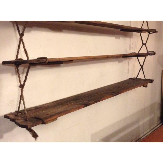 American 1950's Vintage American Craft Hanging Shelves For Sale - Image 3 of 9