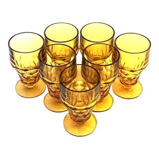 Amber Anchor Hocking Glasses - Set of 7