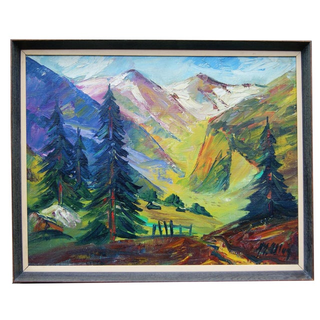 Scandinavian Landscape Painting by Max Ulvig - Image 1 of 5