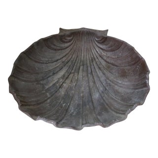 Antique Large Cast Iron Shell For Sale