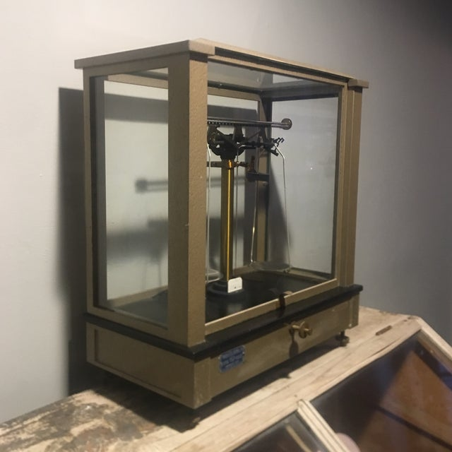 Metal Antique Ainsworth Analytical Balance Scale - Circa 1930's For Sale - Image 7 of 13