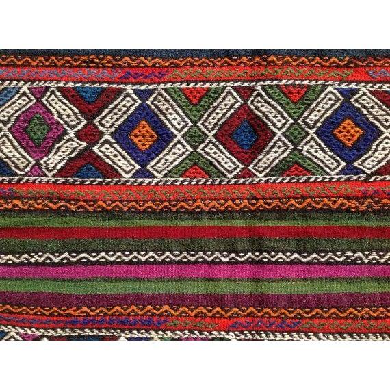 "Boho Chic Vintage Turkish Kilim Rug - 6'7"" x 9'3"" For Sale - Image 3 of 6"