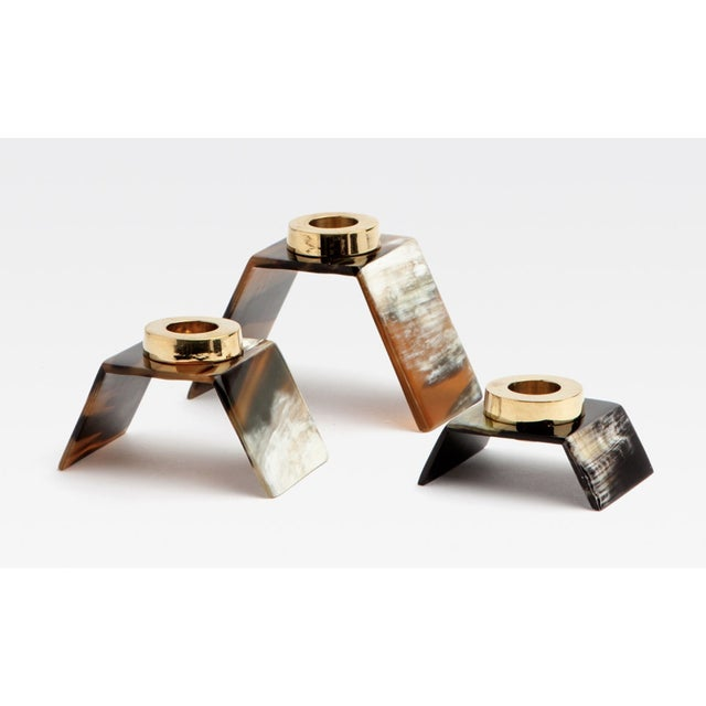 Art Deco Callum Candle Holders - Set of 3 For Sale - Image 3 of 3