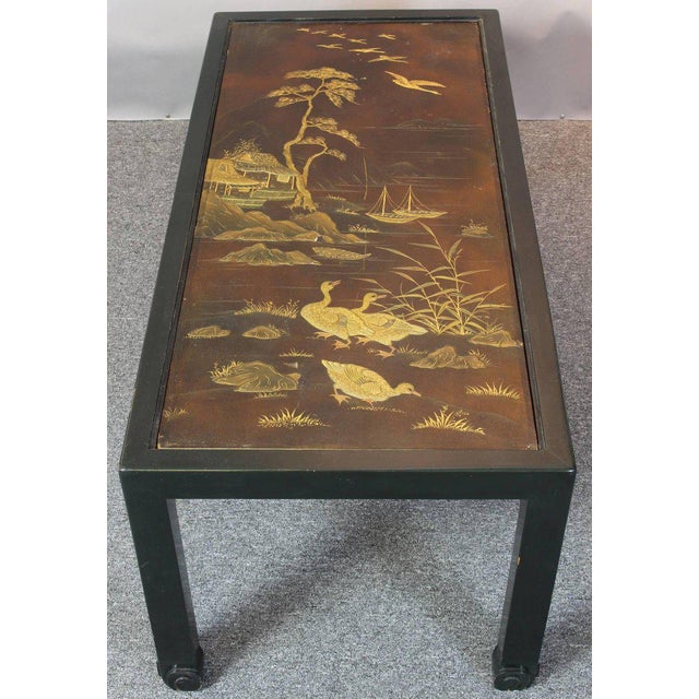 1960s Chinoiserie Lacquered Cocktail Table For Sale - Image 5 of 11