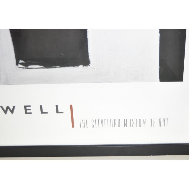 """Abstract Monumental Motherwell """"Cleveland Museum of Art"""" Gallery Poster For Sale - Image 3 of 4"""
