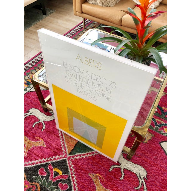 1970s 1973 Josef Albers Framed Homage to the Square Poster For Sale - Image 5 of 10