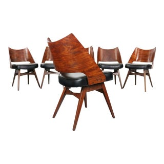 1960s Galloway's Furniture Dining Chairs with Bentwood Backs - Set of 6 For Sale