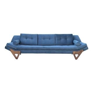 Contemporary Pearsall Gondola Style Sofa For Sale