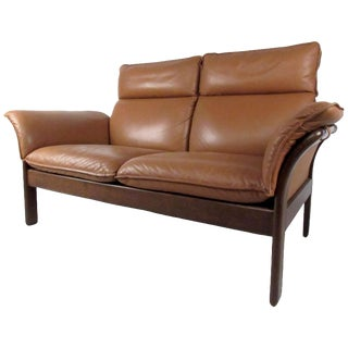 Mid-Century Danish Rosewood Loveseat For Sale