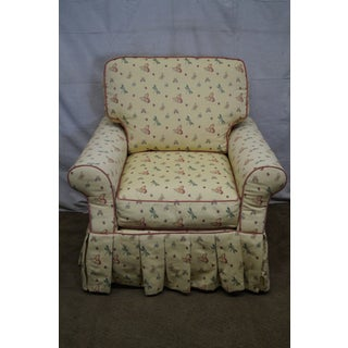 Highland House Yellow Butterfly Upholstered Chair & Ottoman Preview