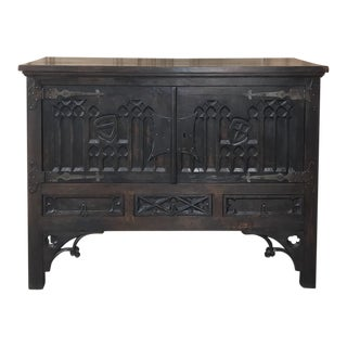 Antique French Gothic Buffet For Sale
